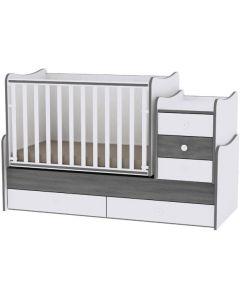 Lorelli Dječji krevetić Maxi Plus - White / Vintage grey