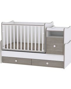 Lorelli Dječji modularni krevetić 4u1 Trend Plus - White / Coffee