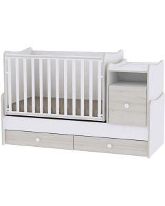 Lorelli Dječji krevetić Trend Plus - White / Light Oak