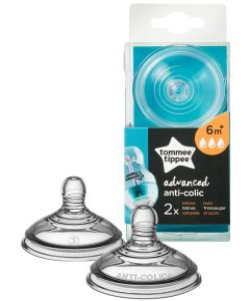 Tommee Tippee® zamjenske dude Advanced Anti- Colic za korištenje uz Anti-colic bočice, 6mj+