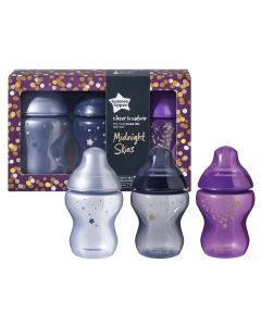 Tommee Tippee Closer to Nature bočice - Midnight Skies - 3 komada, 260 ml