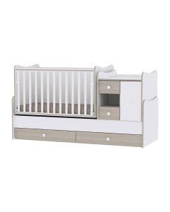 Lorelli Dječji modularni krevetić 4u1 MiniMax - White/ Amber