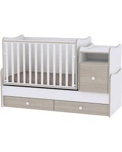 Lorelli Dječji modularni krevetić 4u1 Trend Plus - White / Amber