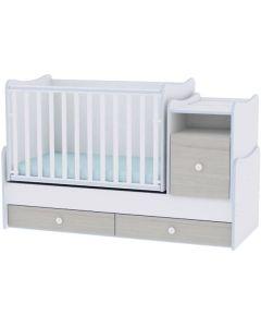 Lorelli Dječji krevetić Trend Plus - White / Blue Elm