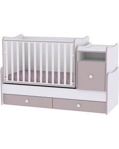 Lorelli Dječji modularni krevetić 4u1 Trend Plus - White / Cappuccino