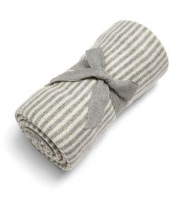 Mamas & Papas pletena dekica - Grey & White Stripe