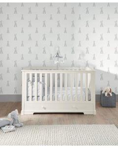 Mamas & Papas Oxford krevetić 140x70cm - White