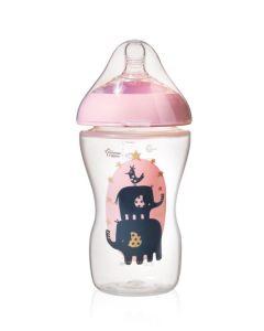 Tommee Tippee® Ultra dekorirana bočica, 340 ml - Roza